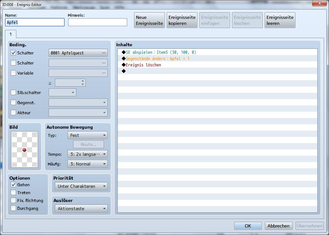 Variablen, Conditions und Switches am Beispiel einer Sammelquest ...