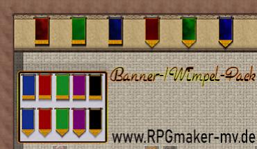 Leere RTP Banner/Wimpel
