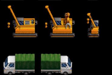 Kranwagen und LKW (aus klein RTP mach groß)