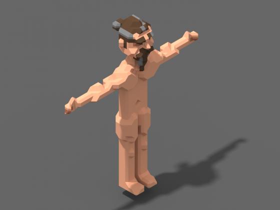 Charakterstudie im 3D-Bereich