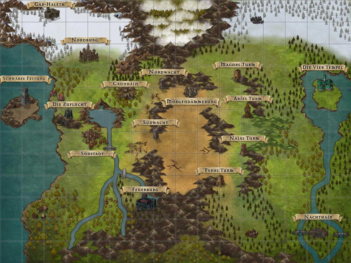 Inkarnatemap: Mystic Tales of Mana - Wichtige Orte