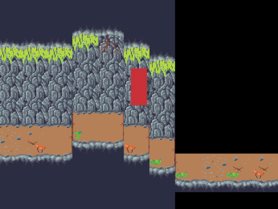 WIP Tileset für ein Höhlenspiel im Game Maker Studio 2