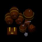 Fässer und Kisten