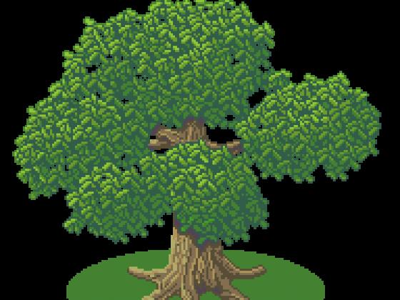 1. fertiger Testbaum - 300% Größe