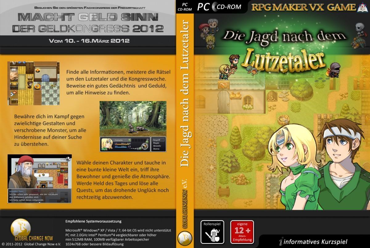 """PC CD-Rom Cover für """"Lutzetaler"""""""