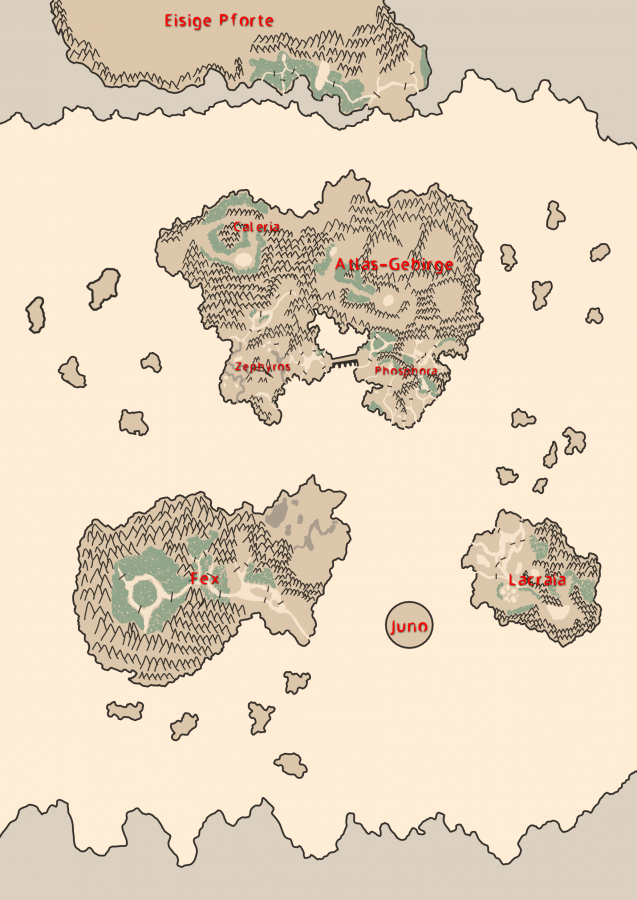 Landkarte von Agarthi