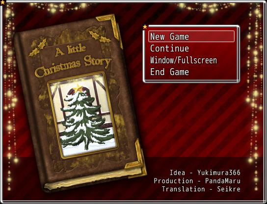 Eine kleine Weihnachtsgeschichte - Titelmenü