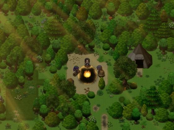 """Eine Lichtung im Wald - aus meinem Projekt """"Das Erwachen"""""""