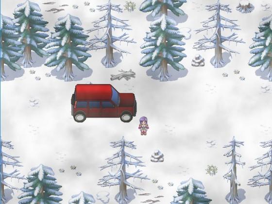 Winterliche Fahrt durch den Wald