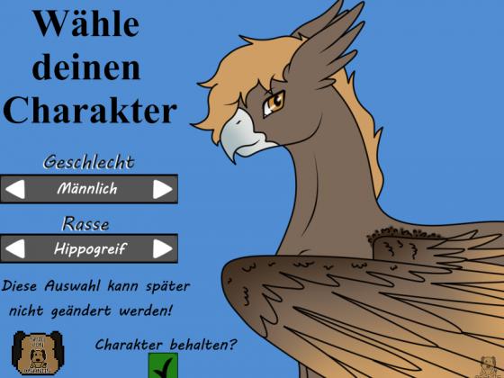 PLA - Charakterauswahl Screen