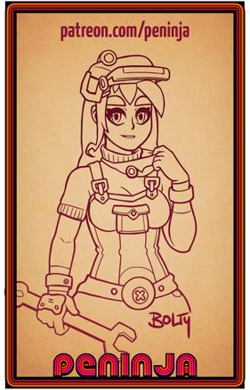 Charakterdesign: Bolty