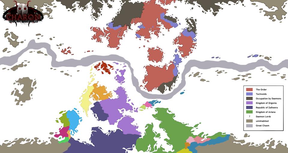 """Die Welt von """"Charon - Zhetan Chronicles"""""""