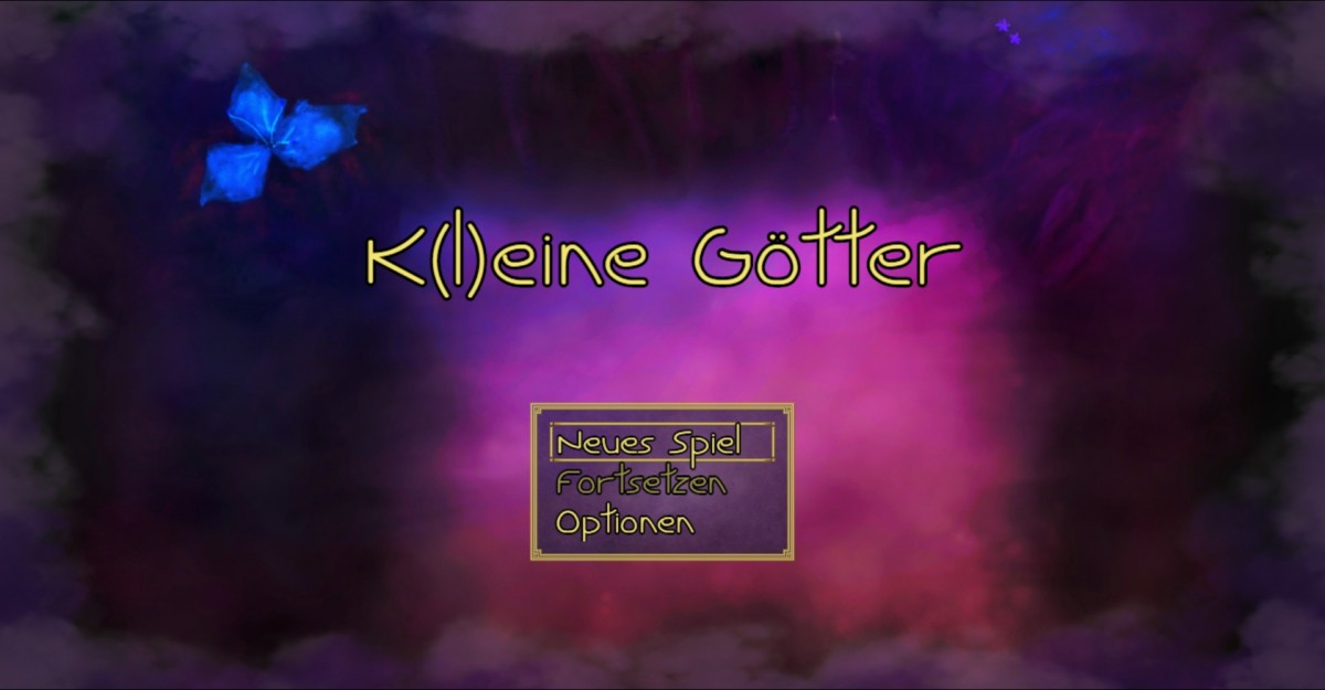 K(l)eine Götter - Titelbildschirm