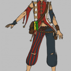 Kostüm-Skizze für Halima