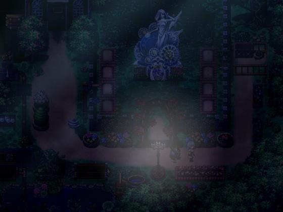 Dampftraum - Garten bei Nacht
