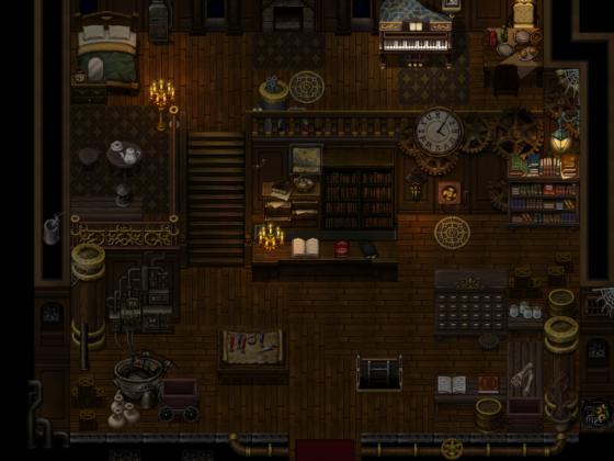 Dampftraum - Haus, dunkel