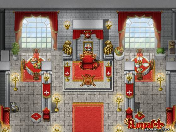 Royal AddOn Beispiel Thronsaal