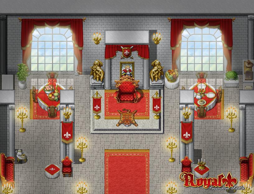 Royal AddOn Beispiel Thronsaal