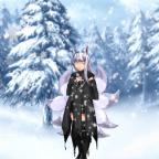 Kitsune Kana im Schnee