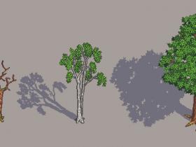 """Die ersten drei fertigen Bäume meines Projektes """"The Untamed Wild""""!"""